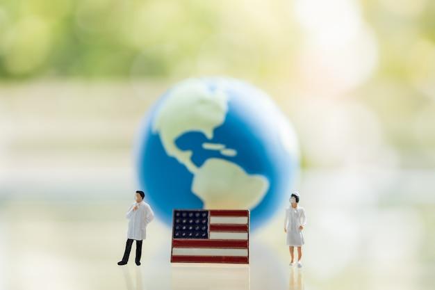 Assistência médica global, coronavírus, conceito de proteção covid-19
