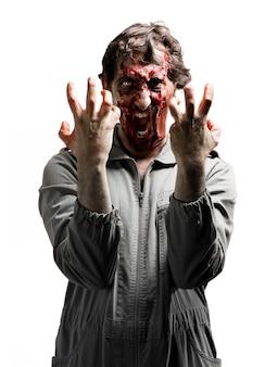 Assustador que grita zombie