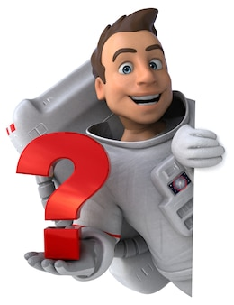 Astronauta divertido - personagem 3d