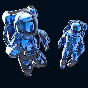 Astronauta no espaço - ilustração 3d