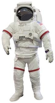 Astronautas isolados no branco