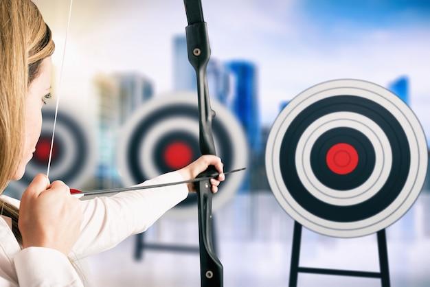 Ataque o mais próximo de uma série de alvos. alcance metas importantes no trabalho