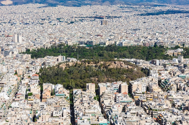 Atenas moderna disparou do monte de lycabettus