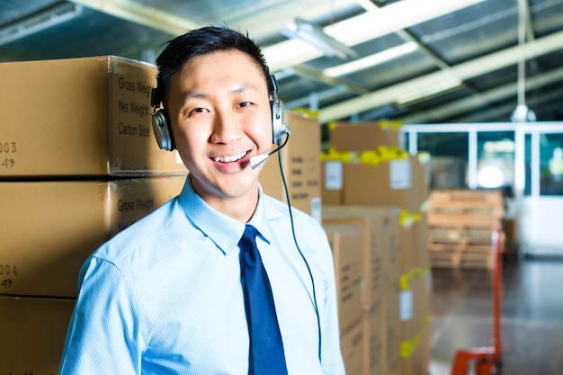 Atendimento ao cliente em um armazém