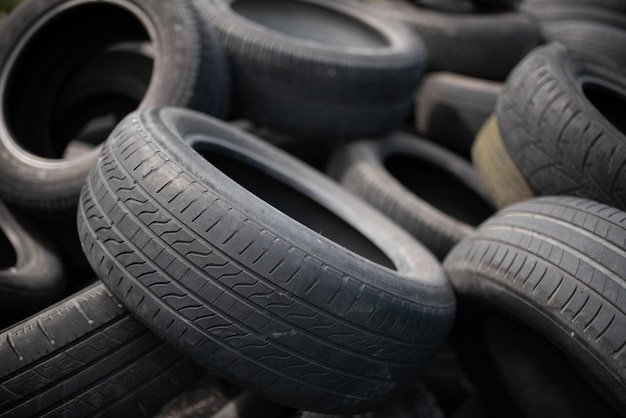 Aterro industrial para o processamento de resíduos de pneus e pneus de borracha