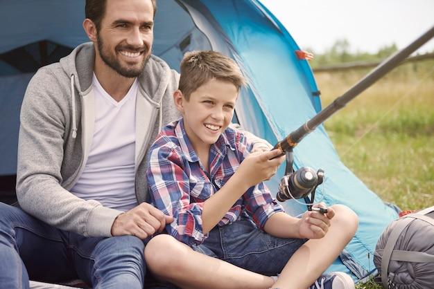 Atividade de lazer no acampamento de verão