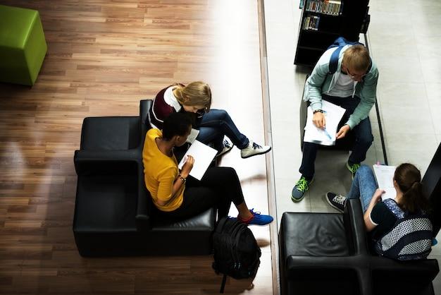 Atividade dos alunos no conhecimento da biblioteca