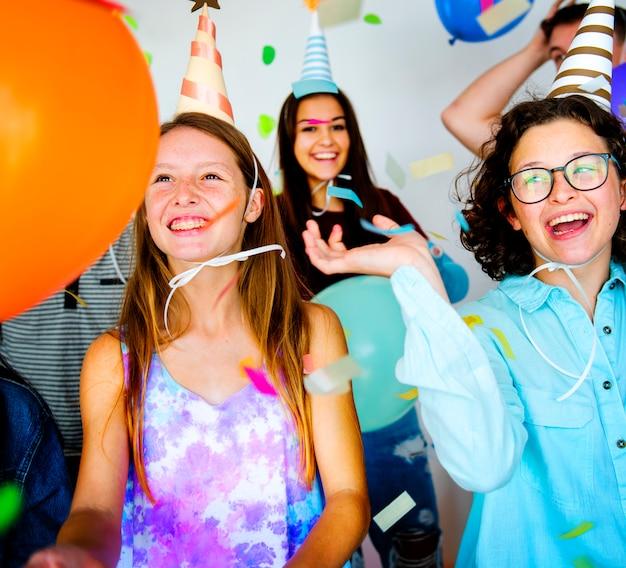 Atividades festivas de enjoy de festa celebrete
