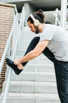Atleta urbano, sapatos de fixação