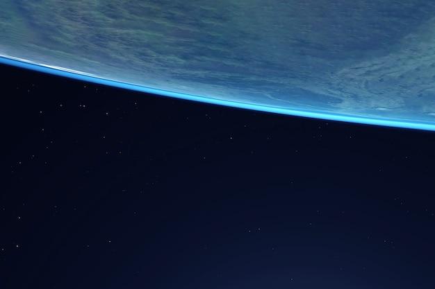 Atmosfera da terra vista do espaço em um fundo escuro os elementos desta imagem foram fornecidos pela nasa