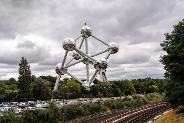 Atomium em bruxelas, bélgica