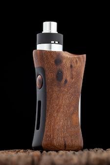Atomizador de gotejamento rebuildable de ponta com mods de caixa regulada de madeira de nogueira natural estabilizada, dispositivo vaping, foco seletivo