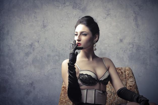 Atraente mulher sedutora