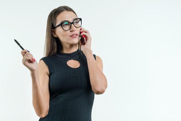 Atraente, professor feminino, executiva