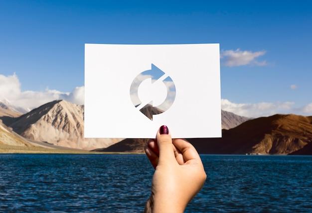 Atualizar ícone recarregar papel perfurado