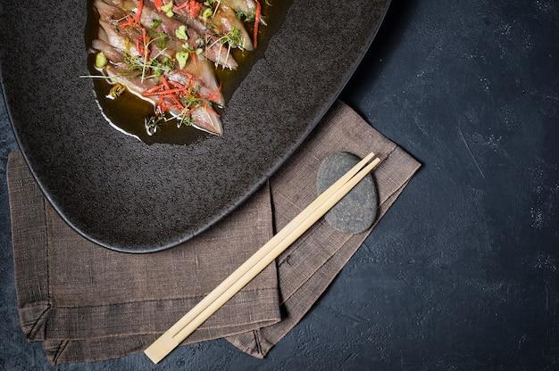 Atum sashimi, carpaccio