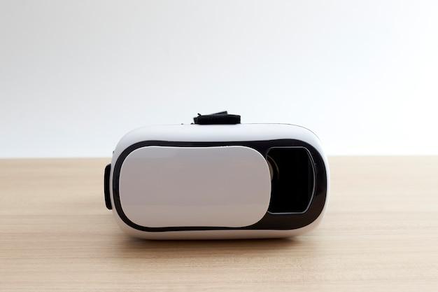 Auricular de capacete de óculos de realidade virtual em madeira