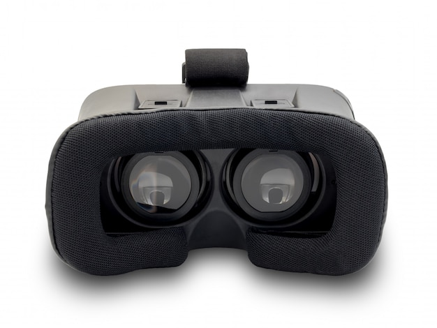 Auricular de realidade virtual em fundo branco