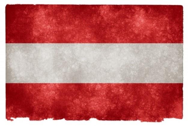 Áustria grunge bandeira
