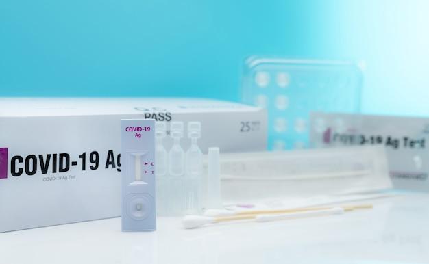 Autoteste de antígeno covid 19 para swab nasal kit de teste de antígeno para uso doméstico para detecção de coronavírus