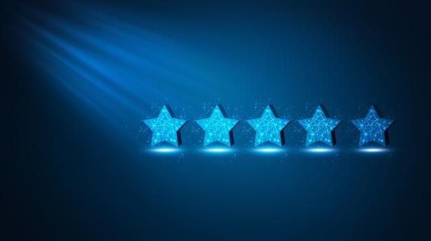 Avaliação de 5 estrelas. coloque uma boa marca