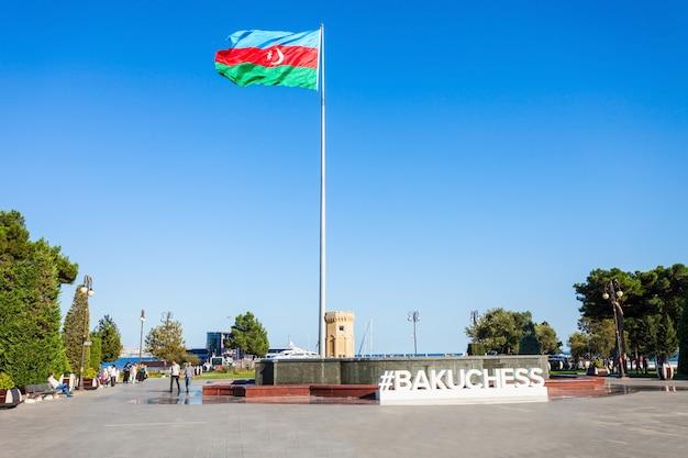Avenida baku, mar cáspio