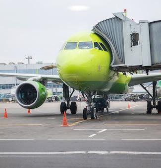 Avião antes da partida