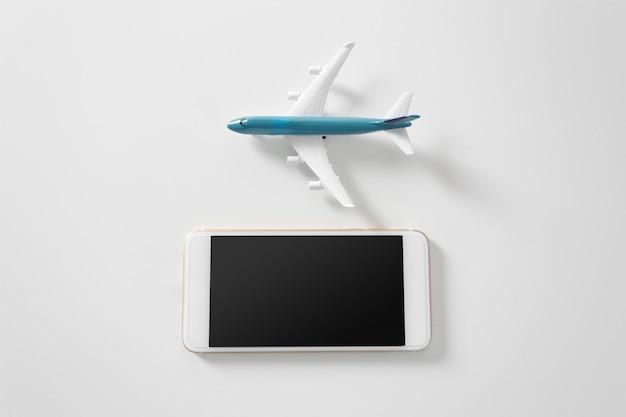 Avião com copyspace
