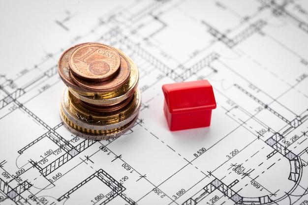 Avião da casa do arquiteto e moedas, investimento no novo conceito de casa