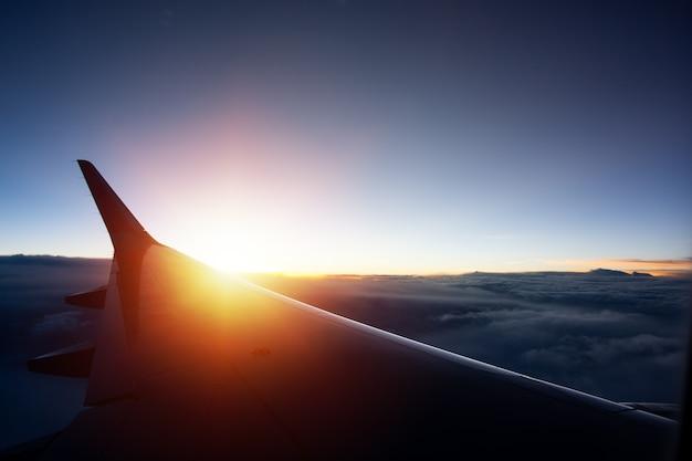 Avião de asa de silhueta