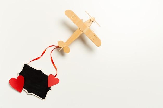 Avião de brinquedo close-up