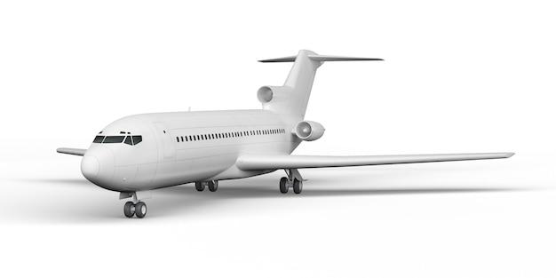 Avião de passageiros boeing 727 3d render