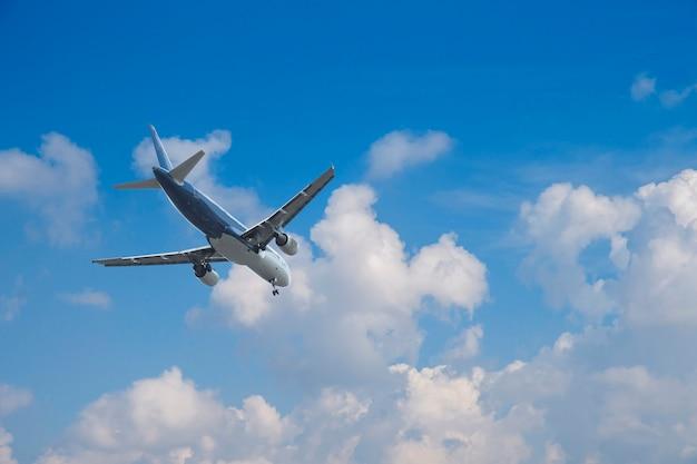Avião sobre as nuvens,