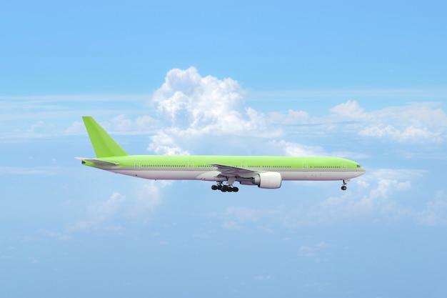 Aviões de passageiros grandes voando rápido no céu.