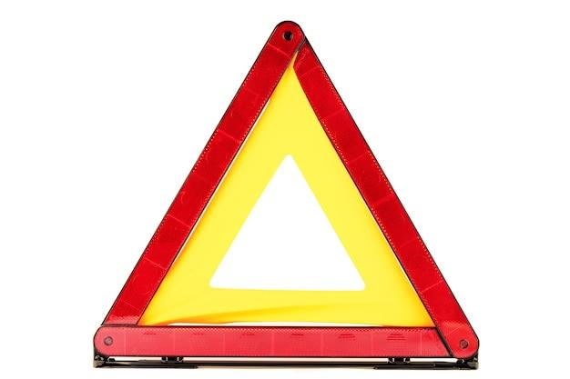 Aviso de acidente de trânsito cantar - triângulo vermelho