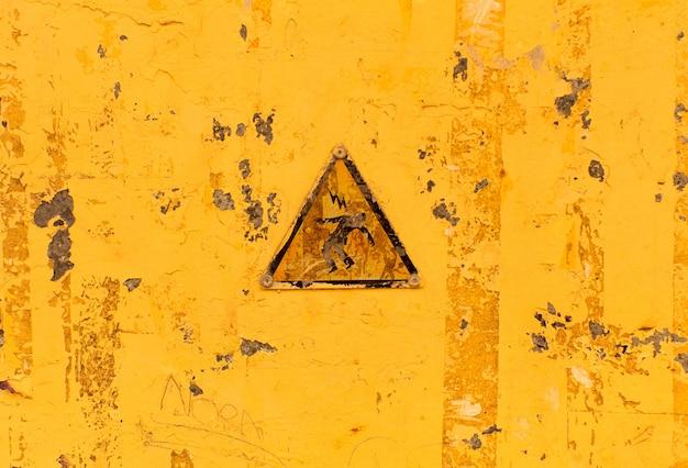 Aviso elétrico textura ou plano de fundo amarelo