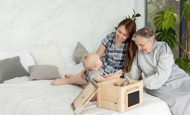 Avó, passar tempo com a família