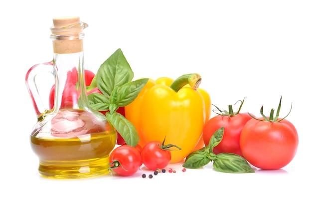 Azeite de oliva e vegetais