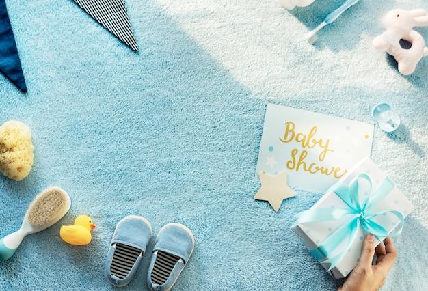Azul bebê chuveiro