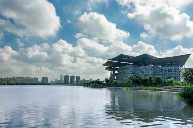 Azul cidade edifício marco china
