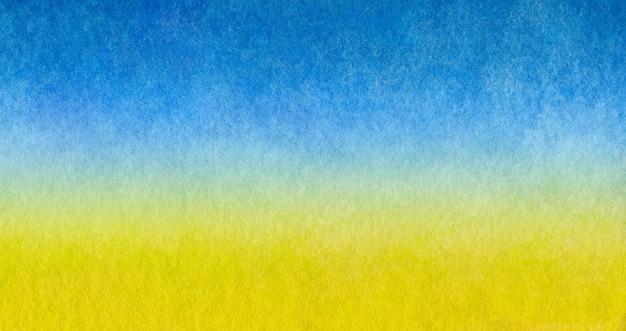 Azul claro para aquecer o amarelo abstrato do mar e da praia em aquarela pintada