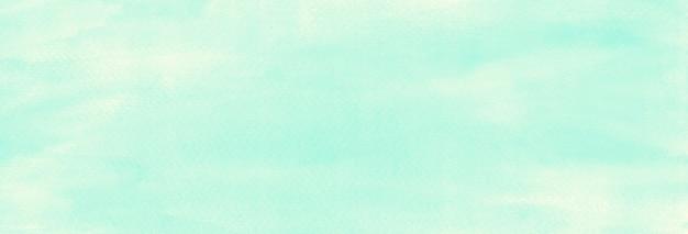 Azul claro pastel aquarela pintura textura abstrata fundo banner panorâmico