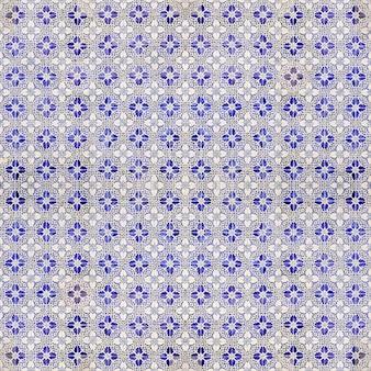 Azul e branco padrão de telhas hidráulicas