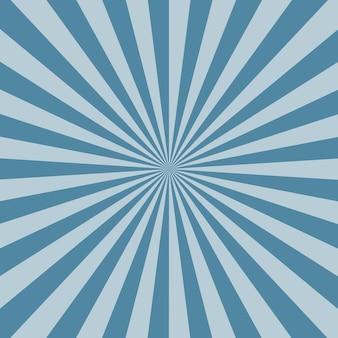 Azul e fundo de padrão de sunburst azul azul