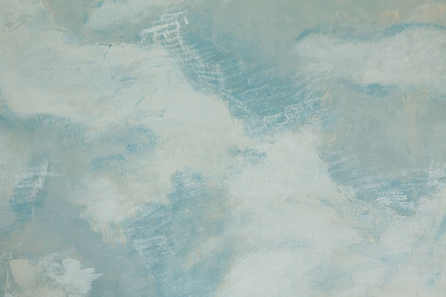 Azul pintado na parede branca, fundo abstrato textura