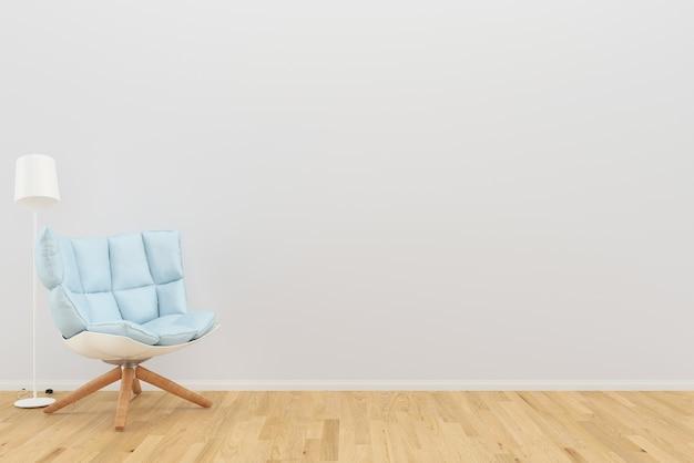 Azul poltrona cor sala de estar piso de madeira fundo textura lâmpada foto moldura interior
