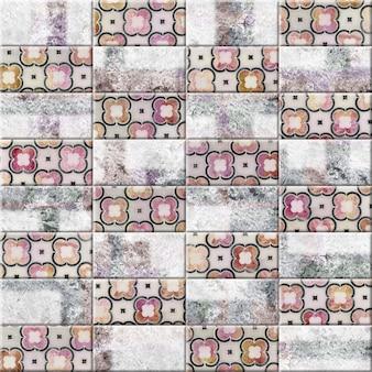 Azulejo com padrões e textura de pedra natural. elemento decorativo para design de cozinha ou banheiro. textura de fundo