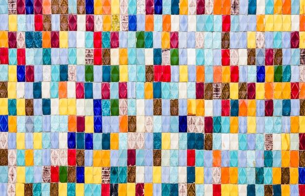 Azulejos coloridos - plano de fundo texturizado multicolorido