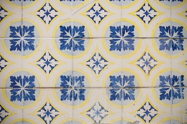 Azulejos decorativos tradicionais portugueses ornamentados em alafama
