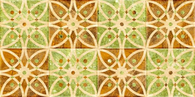 Azulejos em pedra natural, mármore e granito. textura de fundo de mosaico colorido